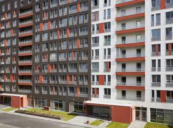Яркое оформление внешних фасадов